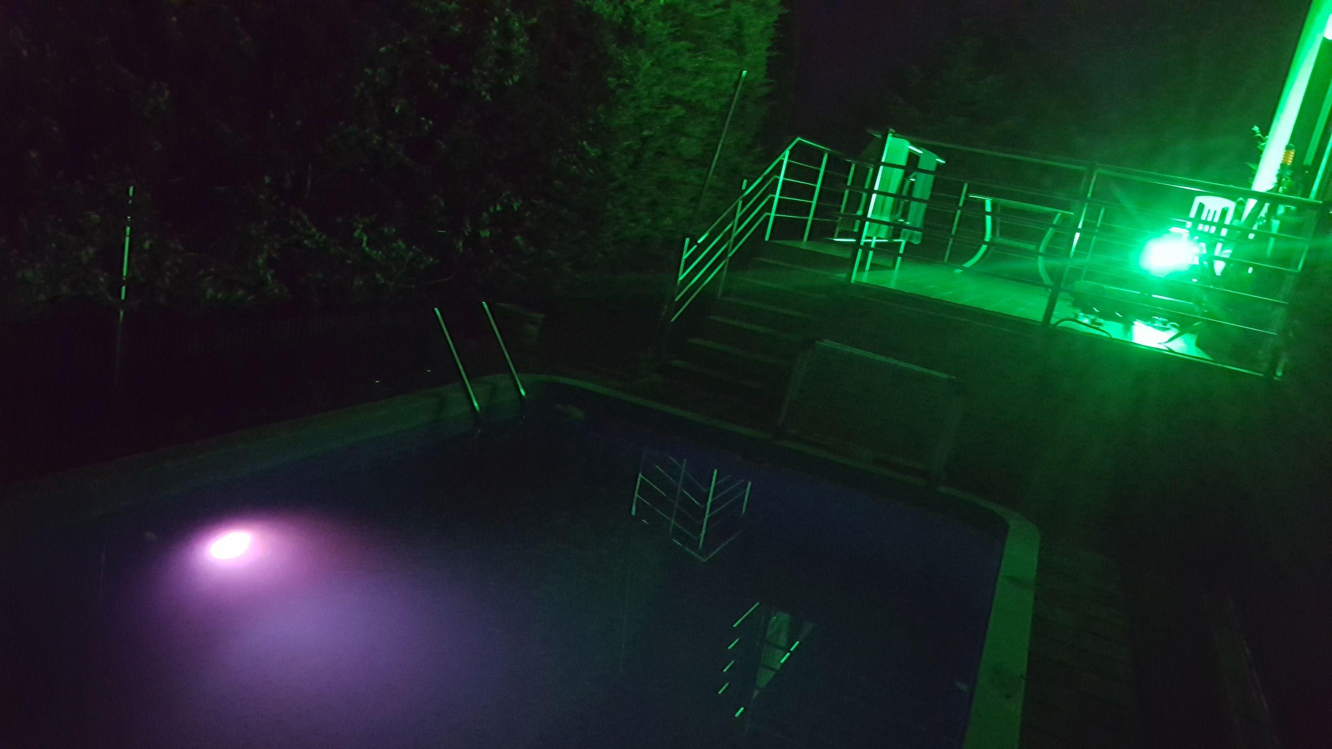 Luzes subaquáticas Parágrafos Branco Quente
