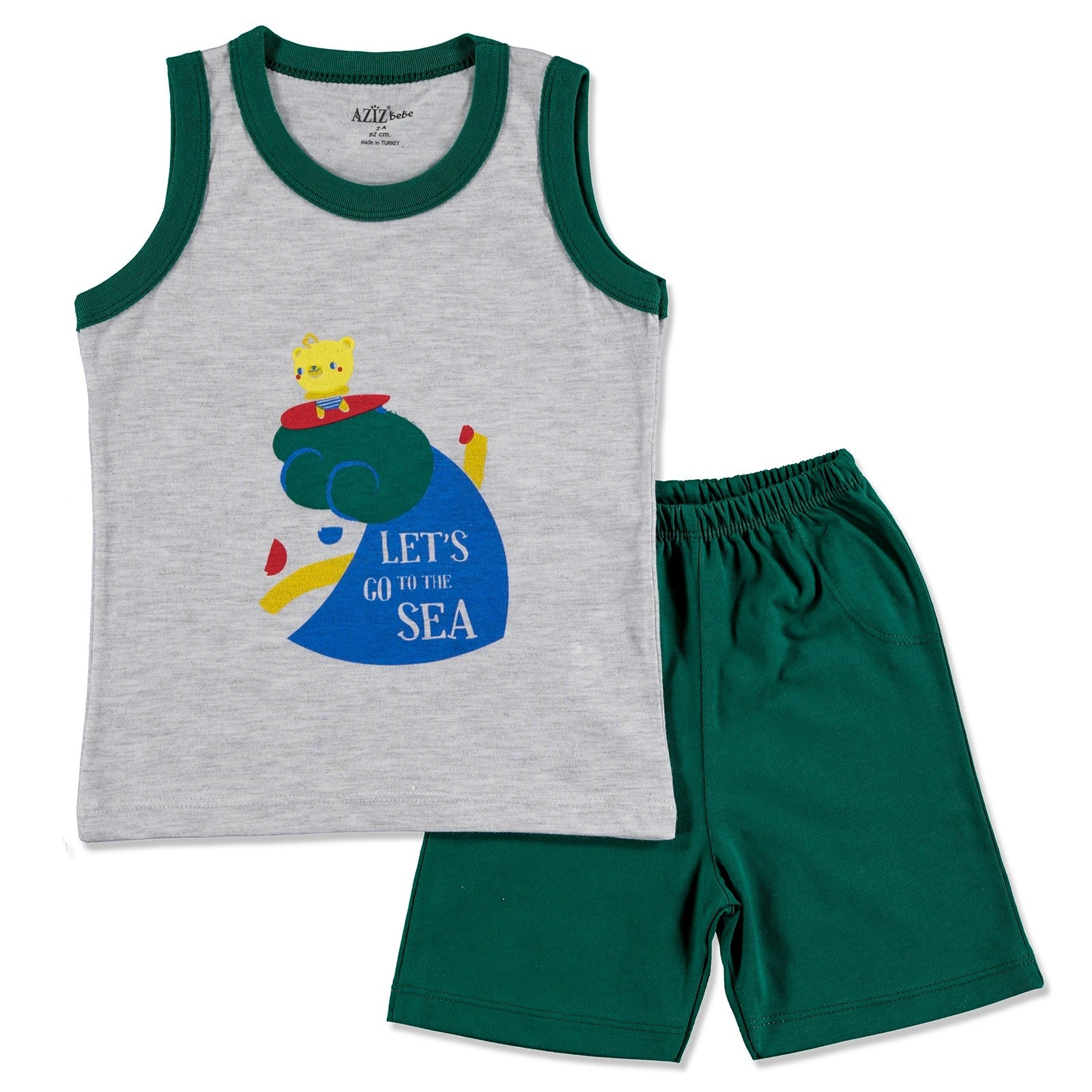 Ebebek Aziz Bebe Summer Baby Boy Olympiad Supreme T-shirt Short 2 Pcs Set