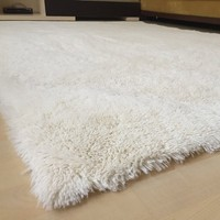 Rabbit Feather Decorative Post Carpet 80 x 150 cm Cream