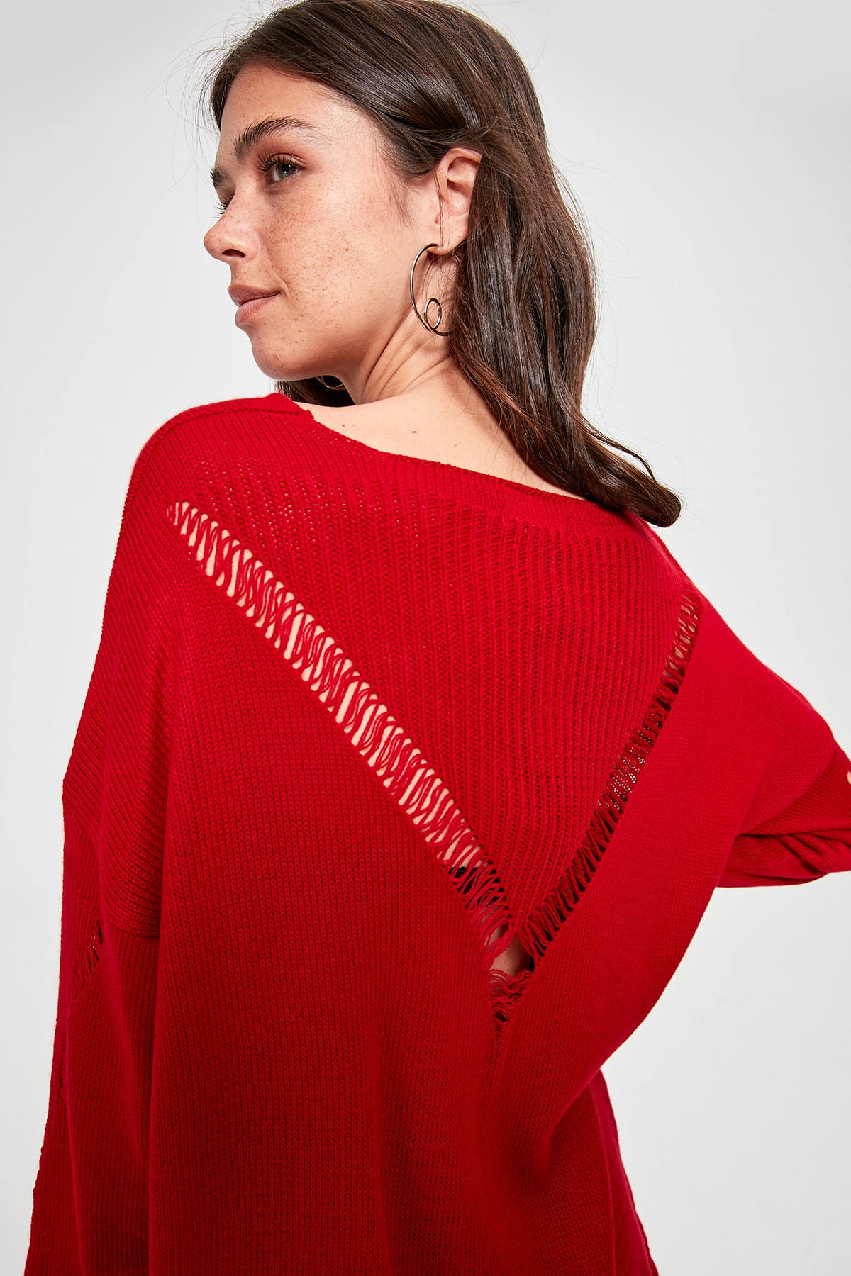 Trendyol Backpack Detailed Sweater TWOAW20KZ0830