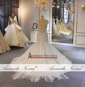 Image 4 - Amanda Novias mermaid wedding gown special lace beading bridal dress