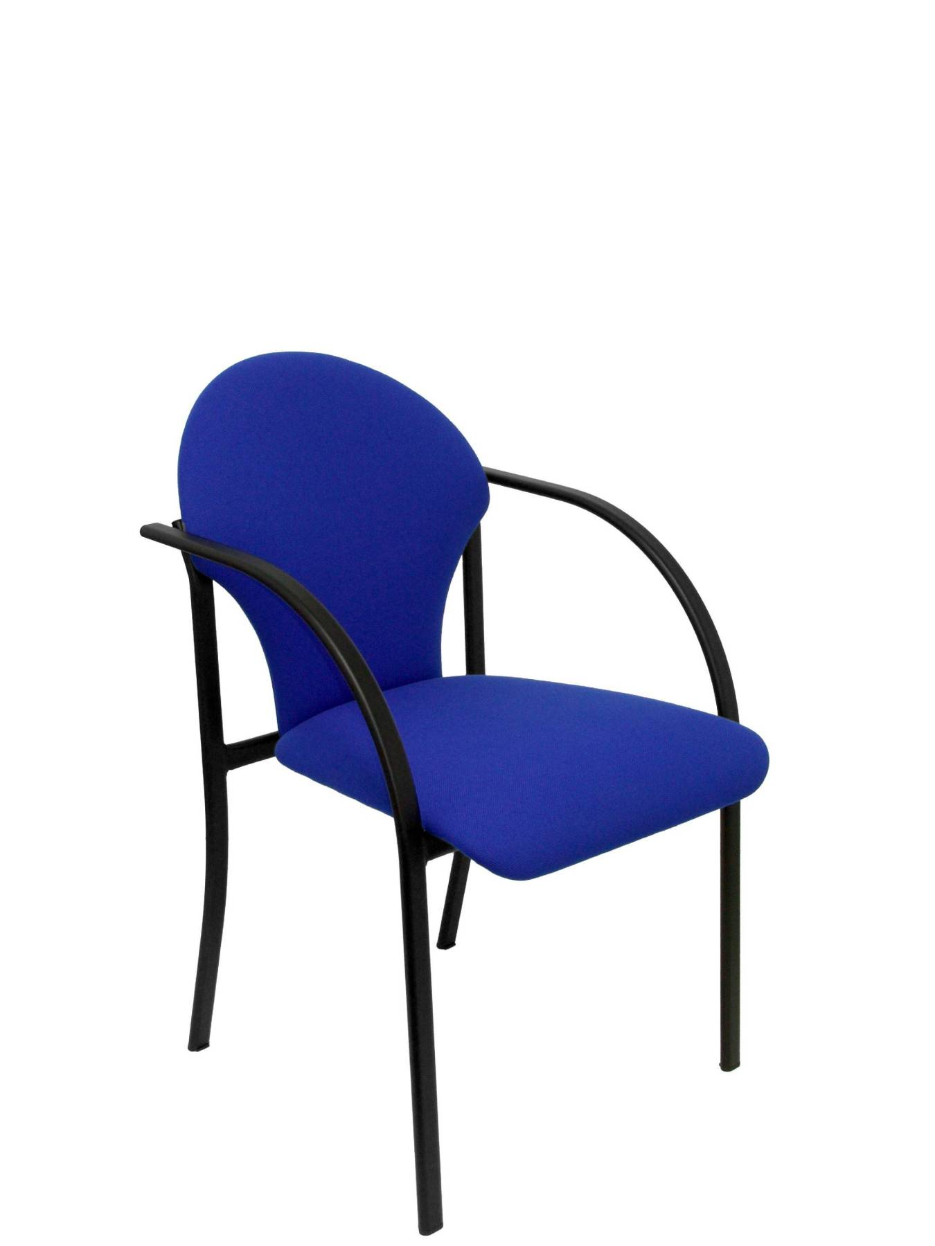 Visitor Chair Desk Ergonomic With Arms Fixed Incorporated, Stackable And Structure In Color Black-up Seat And Backstop Ta