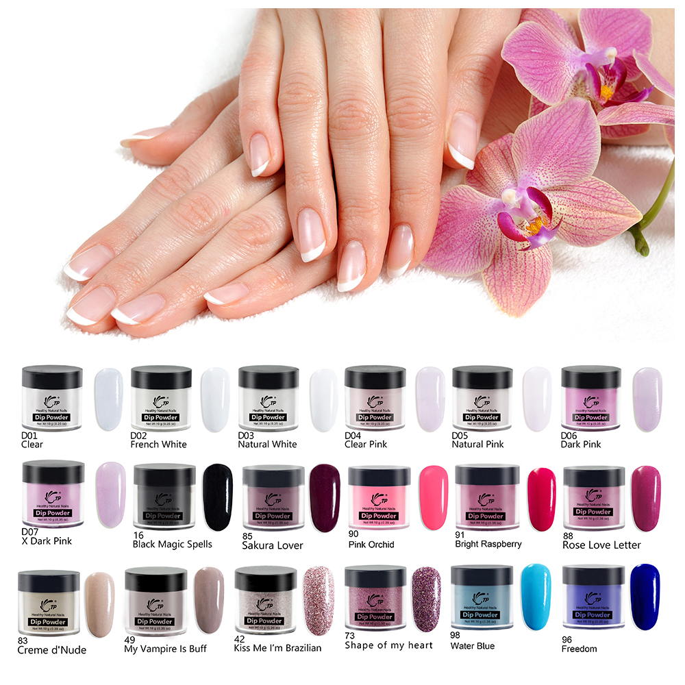 Dipping Powder Nail Glitter Without-Lamp Natural Dry-Color French White Dip Powder System Manicure-Design Nail Art-Dust Shinning