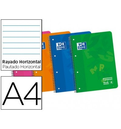 NOTEPAD SPIRAL OXFORD TOP POLYPROPYLENE MICROPERFORATED DIN A4 120 SHEETS 90 HORIZONTAL 5 Units
