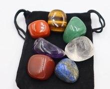 Dogal tas 7 adet takım reiki dogal tas eskitme düzensiz parlatma kaya kuvars yoga enerji boncuk çakra şifa için dekorasyon