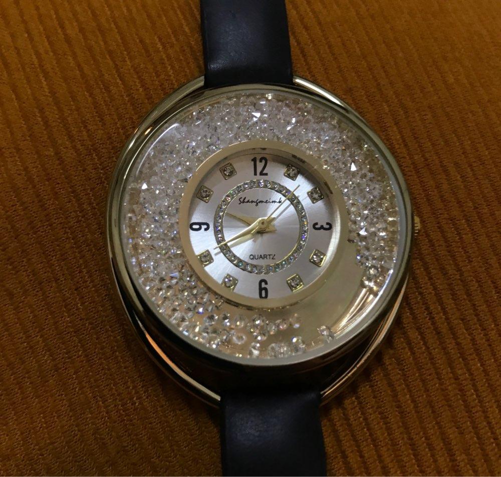 שעון עור ריינסטון לאישה photo review