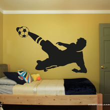 Colored Ball Soccer Silhouette Wall Stickers For Boys Bedroom Decals  Art Decor A0044