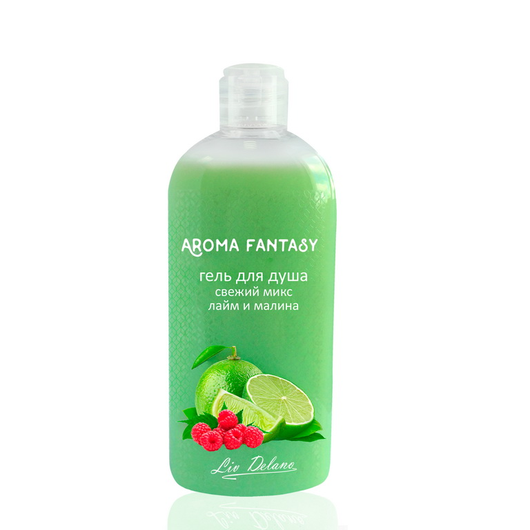 Shower Gel Fresh Mix Lime And Raspberry, Aroma Fantasy 300g