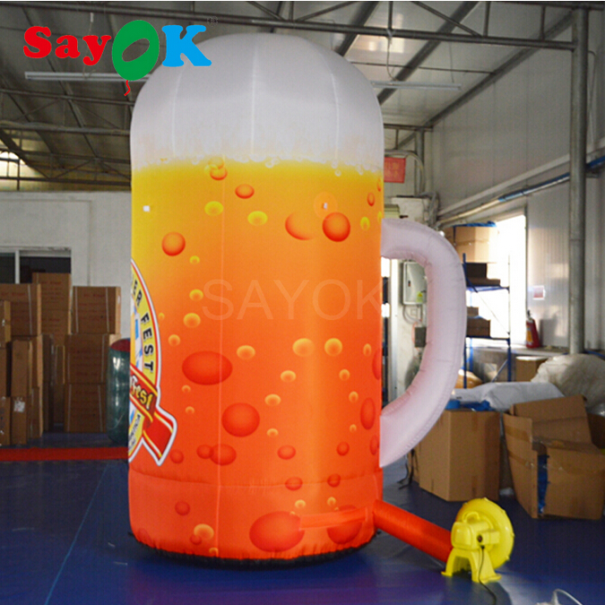Huge Inflatable Beer Cup, 4m/13.1ft High Beer Mug for Beer Fest ,Beer Festival, Commercial Activities and Bars Decoration