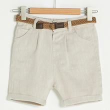 Flaneur Baby Boy Beige Linen Short For Summer 2021 Premium Quality