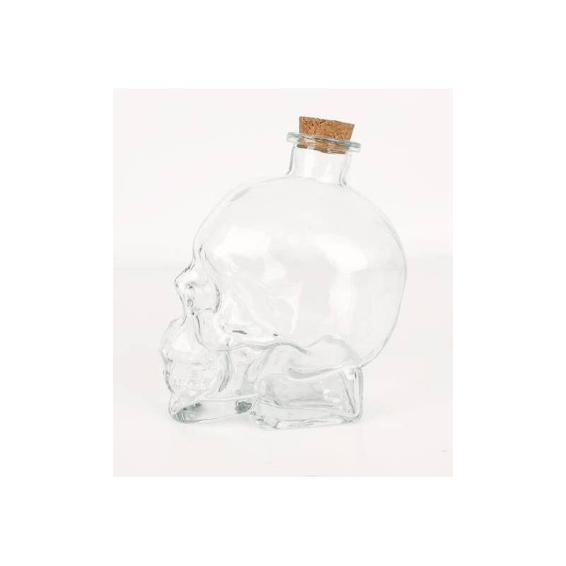Decanter Skull With 2 Glasses