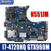 Amazoon N551JW/N551JM Laptop Moederbord Voor Asus N551JW N551JM N551JQ G551JW N551J Originele Moederbord I7-4720HQ GTX960M-4G