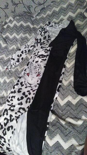 Deep V Neck Leopard Print Patchwork Long Dress Women Bodycon High Split Party Dress Summer Midi Elegant Dress Vestido photo review