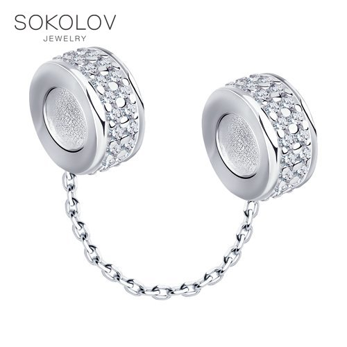 Pendant SOKOLOV Silver Fashion Jewelry Silver 925 Women's/men's, Male/female
