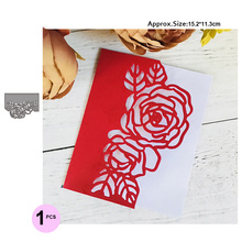 flower Making Scrapbook Greeting  Card edge Lace Hollow Border Metal Cutting Dies Stencil Frame Embossing Template