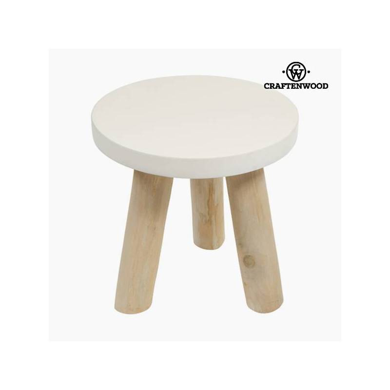 Side Table Round Wood-Lifelike Collection By Craftenwood
