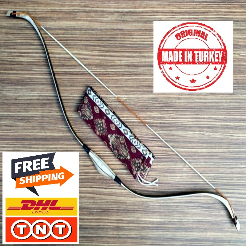 BOW TURKISH TRADITIONAL BOW TARGET SHOT & HUNTER BOW 30-55 Lbs LAMINATED WOODEN Turkish Ottoman Form BOW-Free Shipping DHL / TNT