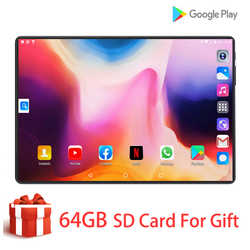 2020 New Version DHL Free Shipping 10 Inch 2.5D Glass Tablet IPS Screen 128GB ROM Android 9.0 Octa Core 6GB RAM Tablets 10 10.1