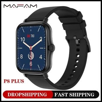 MAFAM  P8 Plus 1.69 inches Smart Watch Men Women Full Touch Fitness Tracker Waterproof Smartwatch 2021  For huawei xiaomi phone 1