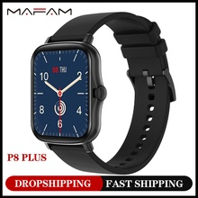 MAFAM P8 Plus 1 69 inches Smart Watch Men Women Full Touch Fitness Tracker Waterproof Smartwatch 2021 For huawei xiaomi phone cheap CN(Origin) None On Wrist All Compatible 128MB Passometer Sleep Tracker Message Reminder Call Reminder Push Message Week