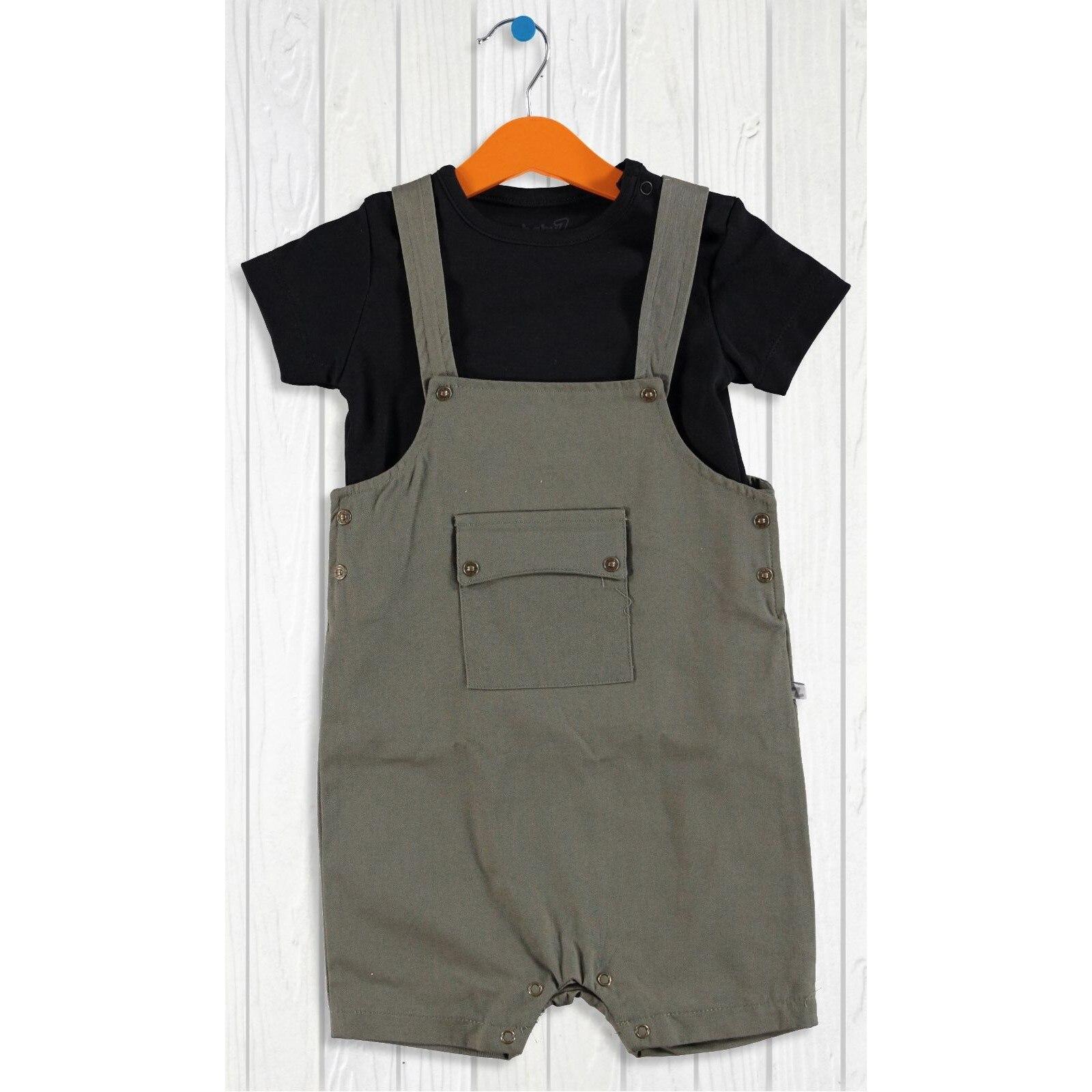 Ebebek BabyZ Baby Boy Camouflage Shorts Dungarees Tshirt Set