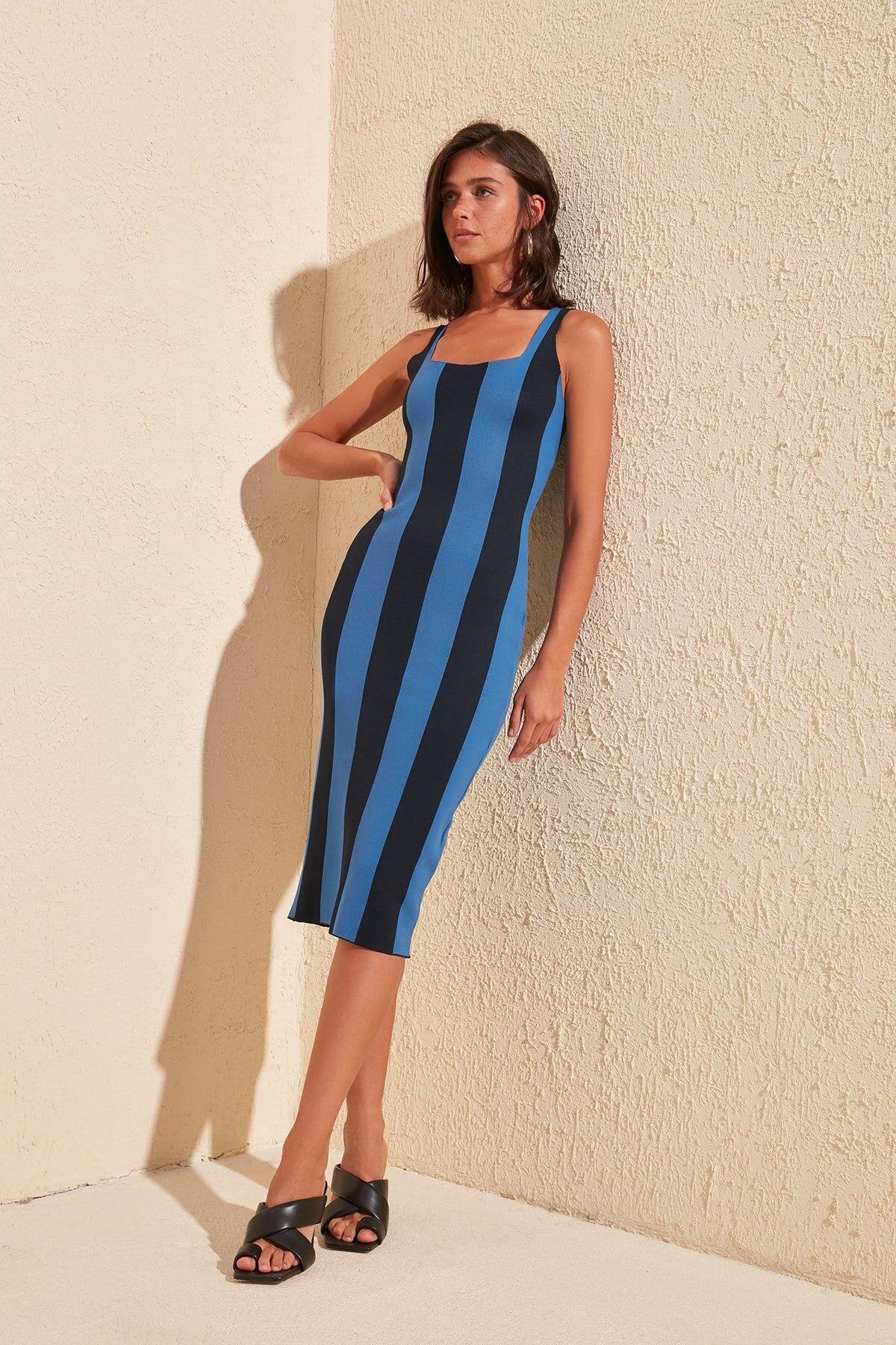 Trendyol Striped Knitwear Dress TWOSS20EL1758