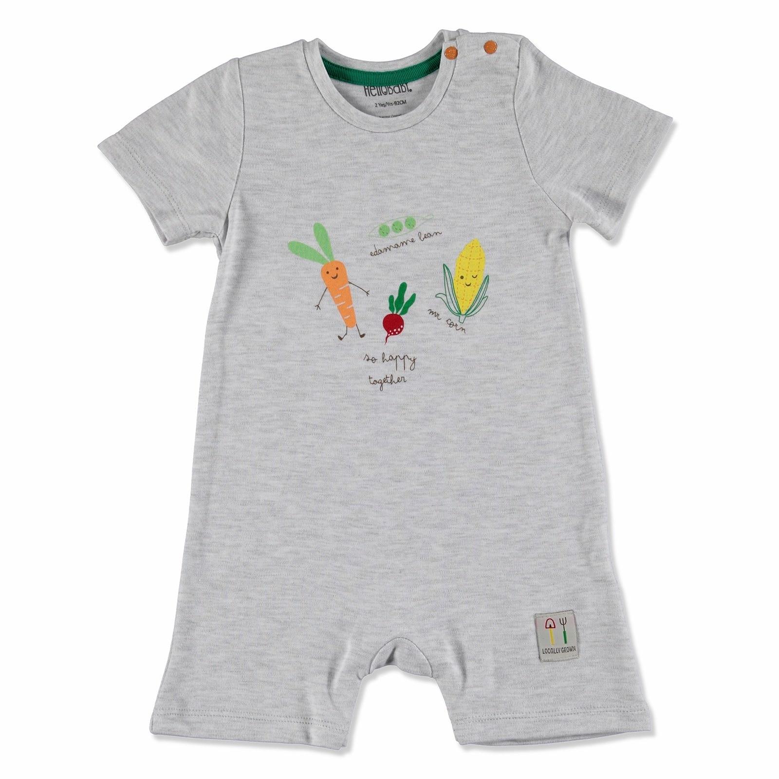 Ebebek HelloBaby Summer Baby Sweet Vegetables Short Sleeve Jumpsuit