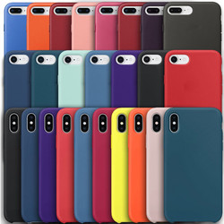 Тонкий мягкий чехол для iPhone 7 8 6 6s Plus 5S 4 Оригинальный жидкий силиконовый чехол карамельный цвет coque Capa для iPhone X