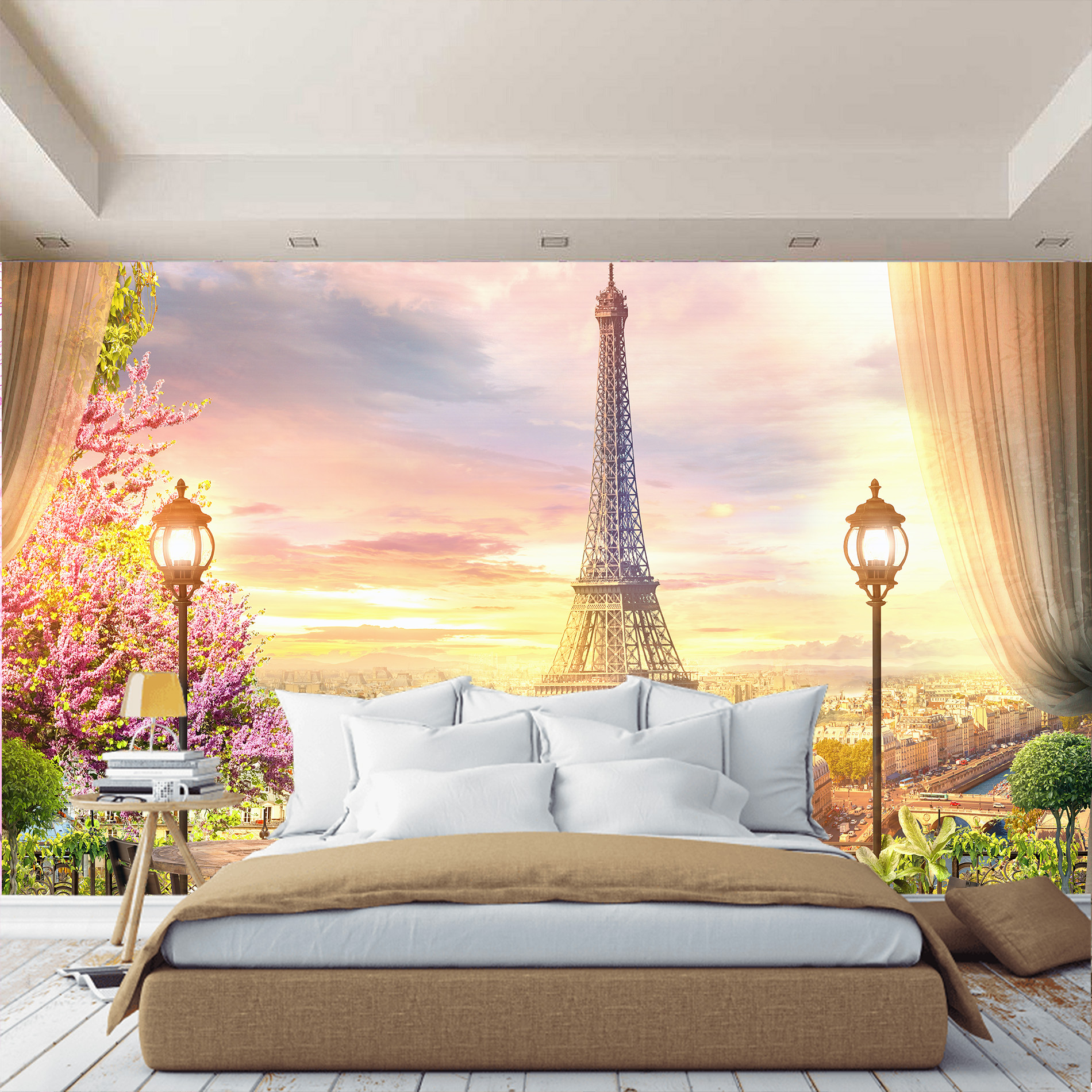 Eiffel Tower, Paris Wall Mural, Wallpaper For Hall, Kitchen, Bedrooms, Murals Expanding Space