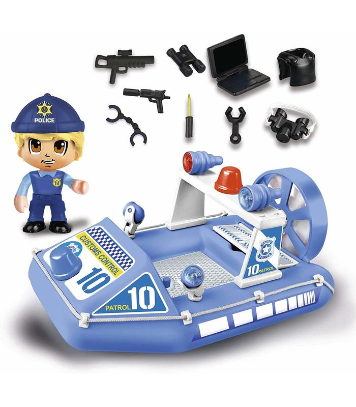 Pinypon Action. Speedboat Police With 1 Figure Toy Store