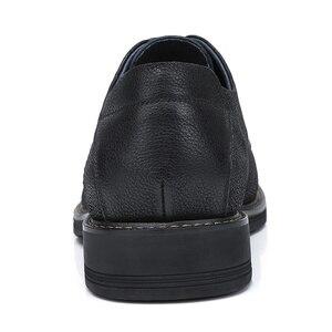 Image 4 - CAMEL Mens Shoes Comfortable Casual Shoes Men Genuine Leather Retro Fashion Business Soft Non slip Resistant Men Shoes