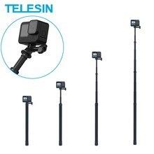 TELESIN 3M Selfie Stick Carbon Faser Einbeinstativ Einstellbare Länge 1/4 Schraube Loch Für GoPro 9 8 7 Osmo Action insta360 Xiaoyi Sjcam