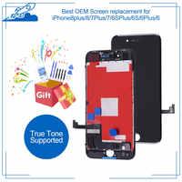 Beste OEM Für iPhone 8 Plus 7 6S 6 LCD Touchscreen IPS Display Digitizer Montage Für iPhone8 Wahre ton Unterstützt Ersatz