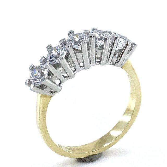 Classic Diamond Model 8 Carat Gold Dibs Ring 1