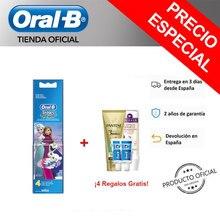 Oral B Stages Power cabezal de recambio para cepillo electrico con los Personajes de Frozen x4 Cabezales Filamentos extrasuaves