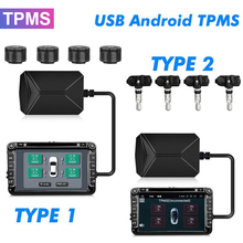 Android TPMS Sensor for Car Radio DVD Player Tire Pressure Monitoring System Spare Tyre Internal External Sensor USB TMPS