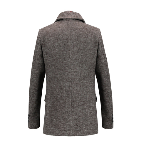 New Fashion Brand Mens Clothing Jacket Wool Coat Men Single Breasted Turn Down Collar Slim Fit Peacoat Long Winter Men Coat 4XL Islamabad