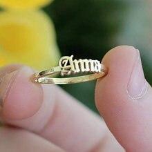 Именное кольцо на заказ с английским именем персонализированные