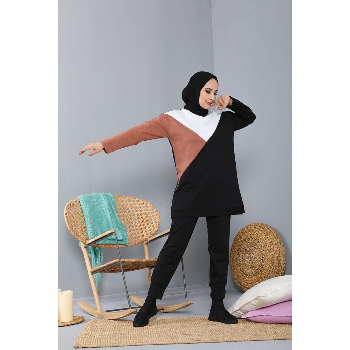 Sports Double Muslim Set Muslim Fashion Double Hijab Suit Young Muslim Fashion Muslim Women Sport Clothing 2021 Fashion