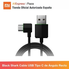 Schwarz Shark Rechten Winkel USB-C Kabel