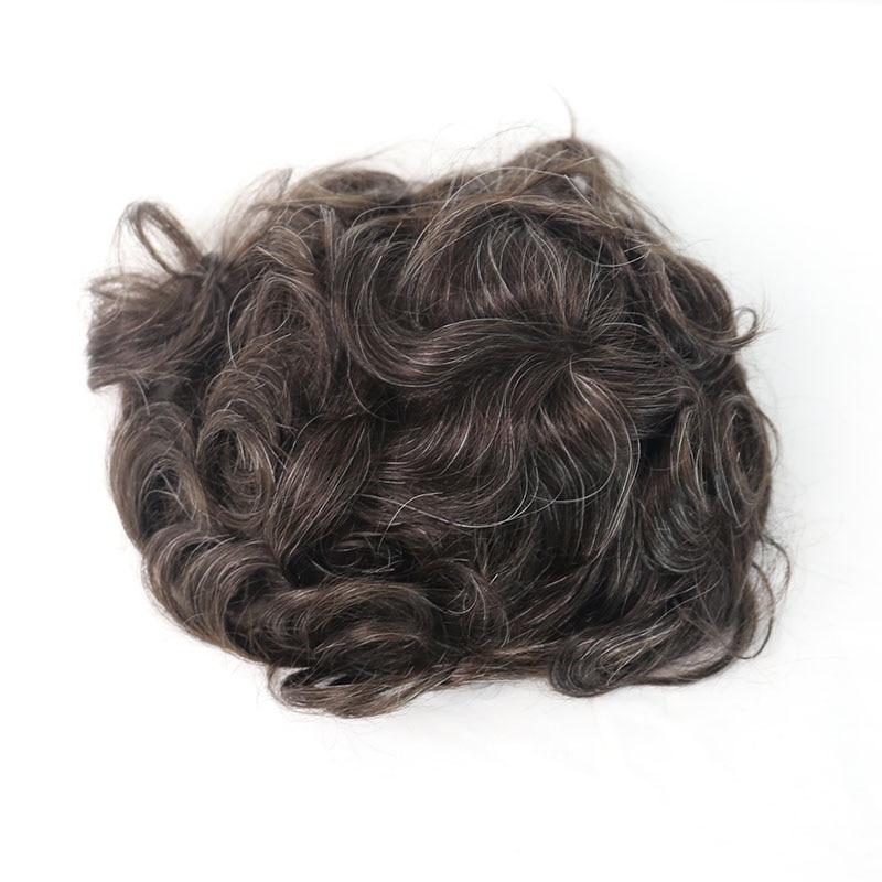 Волосы Toupee system для мужчин натуральный вид 100% европейские натуральные волосы Toupee PU Замена для мужчин t system 220 # цвет VenVee remy волосы