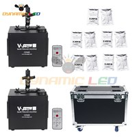 2pcs With Flightcase And 10 Bags Powder 400w Fall Spark Firework Machine For Wedding Celebration Dmx And Remote Control