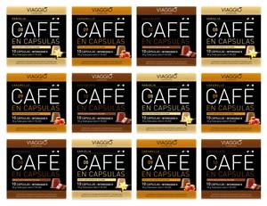 VIAGGIO ESPRESSO - 120 coffee capsules compatible with Nespresso machines (flavored selection)