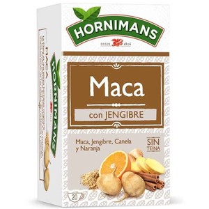 Maca infusion with ginger, cinnamon and orange. 20 bags Hornimans