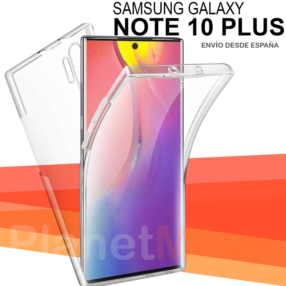Compatible Con Samsung Galaxy Note 10 Plus Funda Doble Cara 360 Grados Completa Delantera + Trasera Carcasa Integral Antigolpes
