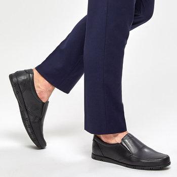 FLO 91 109952 M czarne męskie klasyczne buty Polaris 5 Point tanie i dobre opinie Polaris 5 Nokta Sztuczna skóra