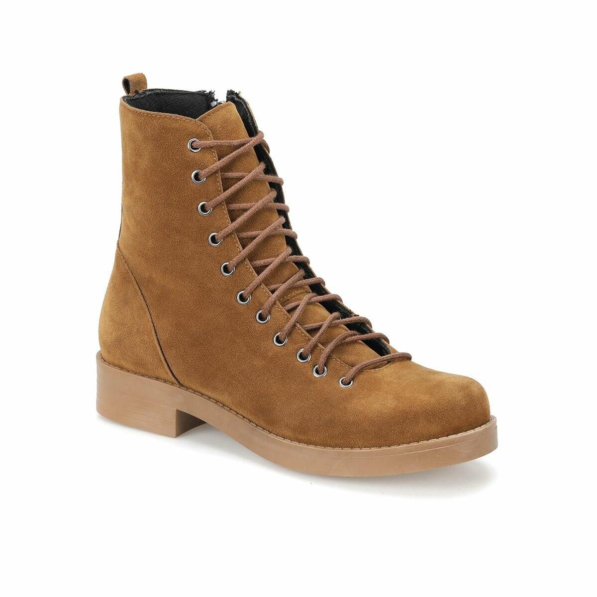 حذاء بوت للنساء FLO PUFF17Z Tan من BUTIGO