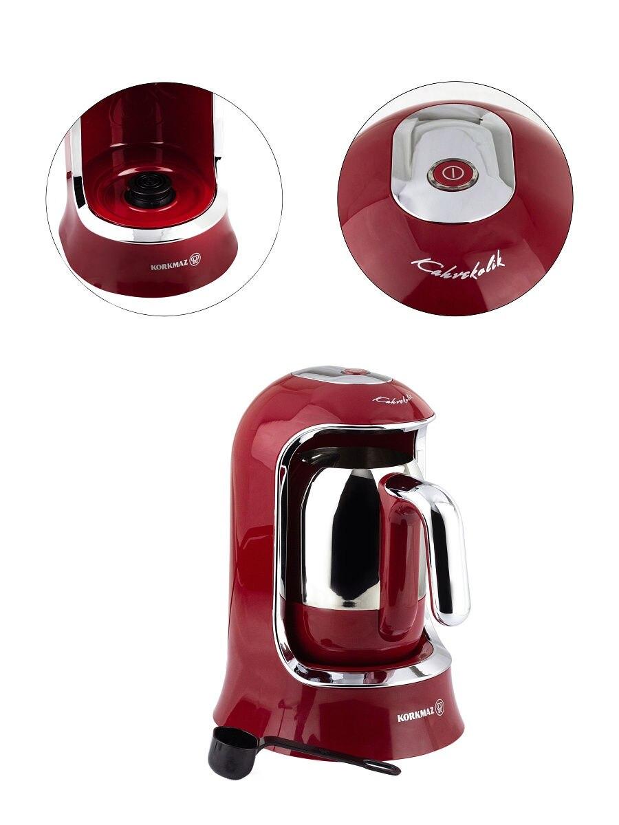 Korkmaz kahvekolik turc café-machine rouge a860-03 Moka machine NEUF