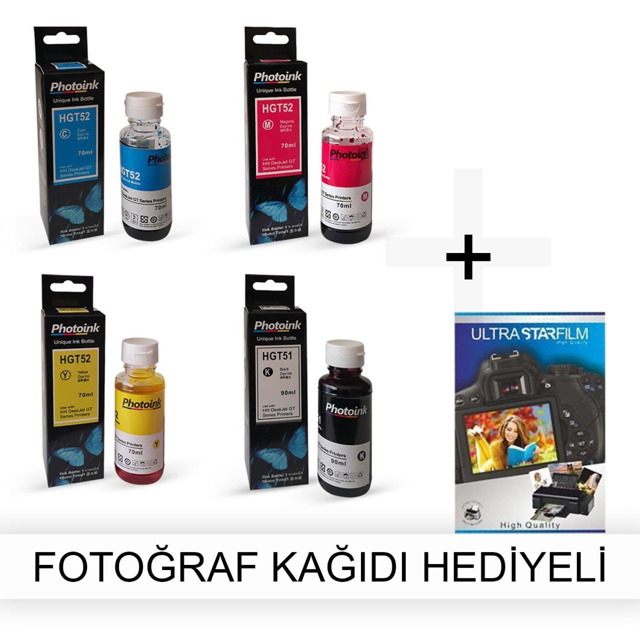 HP PSC 1610 1 Suit Photoink Ink Photo Paper Gift Photo Paper     - title=