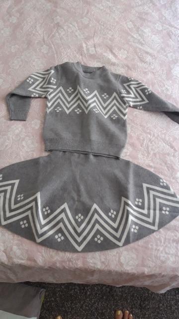 Bear Leader Girls Dress 2021 Winter Geometric Pattern Dress Long Sleeve Girls Clothes Top Coat+ Tutu Dress Sweater Knitwear 2pcs|dress long sleeve tunic dress|clothes hamperdresses uk - AliExpress